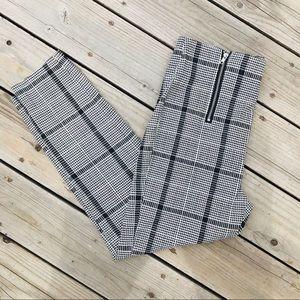 Almost Famous Plaid Double Zip Ankle Pants XL